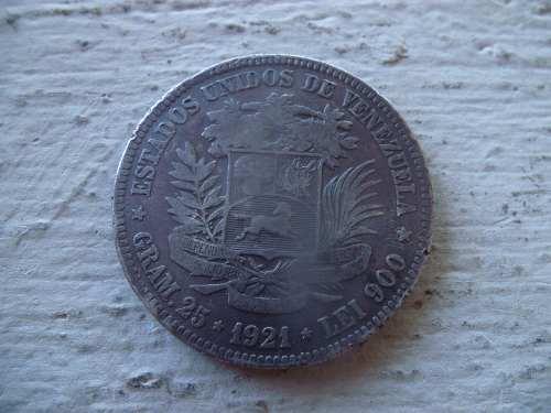 Moneda Fuerte De Plata Año  Estados Unidos De Venezuela