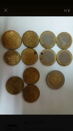 Monedas Eur Antiguas De Colección