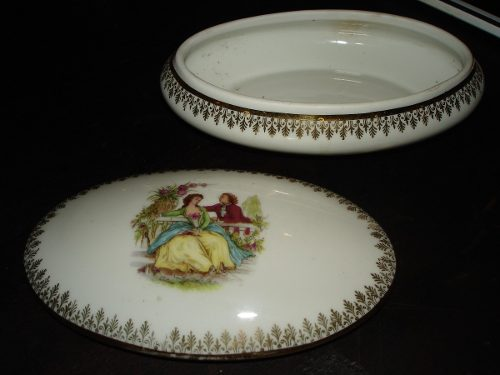 Antiguo Joyero De Porcelana Limoges Made In France En Perfec