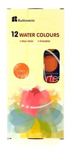 Estuche De Acuarelas De 12 Colores Marca Rubinstein