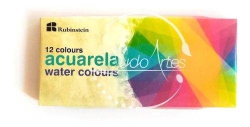 Estuche De Acuarelas Liquidas De 12 Colores Marca Rubinstein