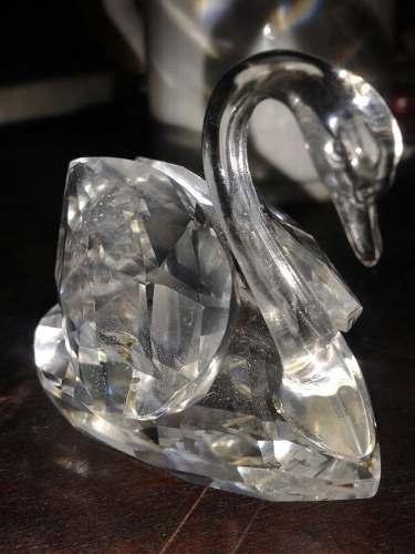 Figura Cisne De Cristal Swarovski Made In Austria Perfecto E