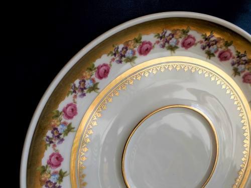 Hermoso Plato De Porcelana Alemana Rw-bavaria. Full Oro