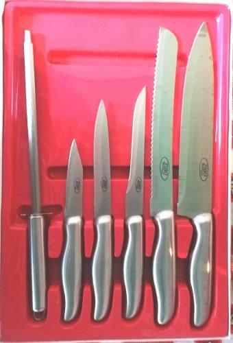 Juego De Cuchillos De 6 Piezas Zibo Nuevos