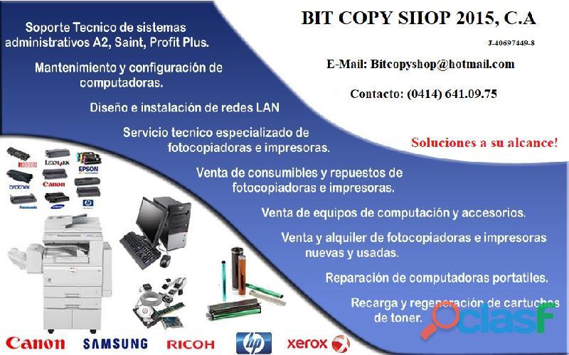 Mantenimiento y reparacion de fotocopiadoras en Puerto la