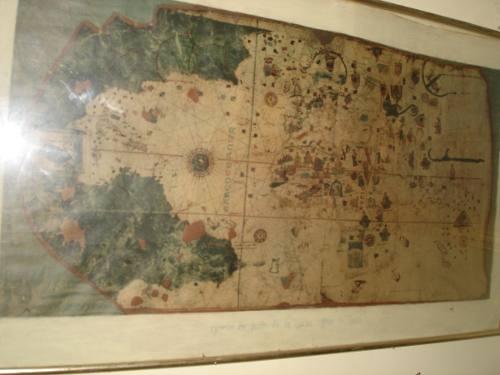 Reproduccion Antiguo De Mapa En Muy Buen Estado Para El Tiem