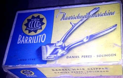 Maquina Manual Barrilito. Original Para Cortar Cabello