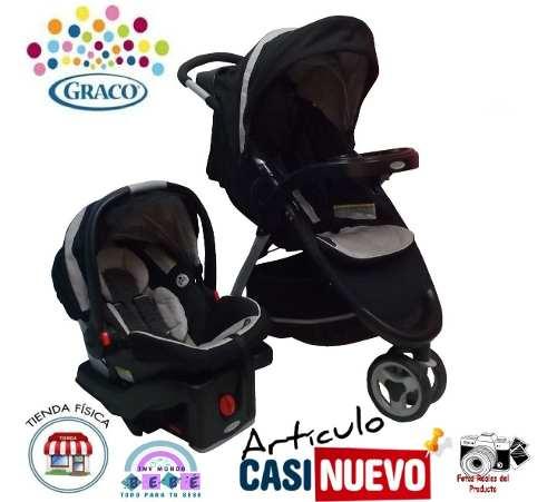 Coche 3 Ruedas Y Portabebe Graco Con Base De Carro Impecable