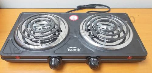 Cocina Electrica 2 Hornillas Portatil w Isonic Nuevo