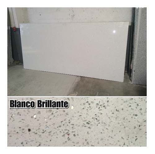 Lámina De Cuarzo Blanco Estelar Brillante Diamante