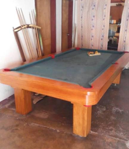 Mesa De Pool Profesional Con Juego De Bolas Triangulo Tacos