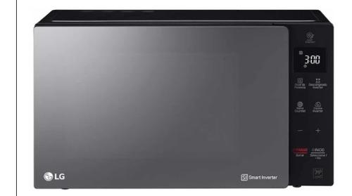 Microondas Lg 42 Litros Smart Inverter Negro