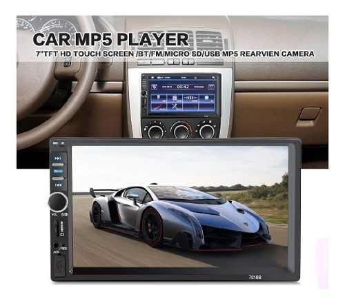 Reproductor Doble 2 Dim Mp5 De 7 Touch Screen Bluetooth
