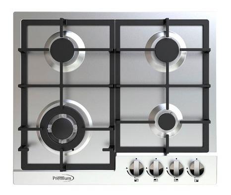 Tope De Cocina A Gas De 60 Cm En Acero Premium