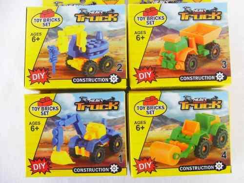Carrito Armable Tipo Lego Construcción Didactico Somos