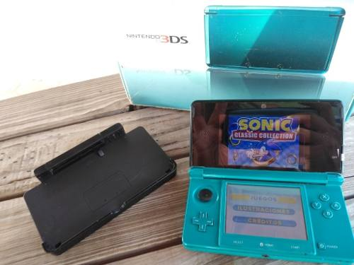 Nintendo 3ds Memoria 4g Base De Carga Y Caja