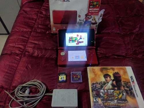 Nintendo 3ds Original Como Nuevo En Caja + Juego Origina+ R4