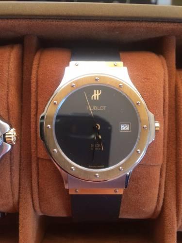 Reloj Hublot Mdm Geneve Oro Y Acero Con Correa De Goma