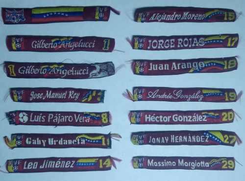 Colección Pulseras Jugadores Vinotinto Fvf Golazo Efe 7usd