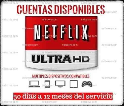 Cuente Neflix Original | Premium | Ultra Hd 4k | Garantía