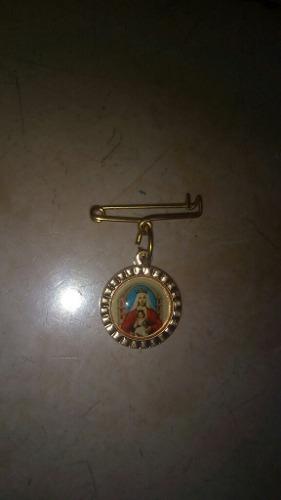 Imperdible Con Medalla De La Virgen De Coromoto