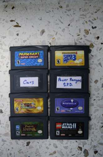 Juegos De Gameboy Advance (mariobros, Mariokart, Cars...)
