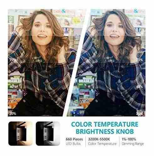 Para Fotografia Neewer Bi Color Led Luz Video Soporte Gd