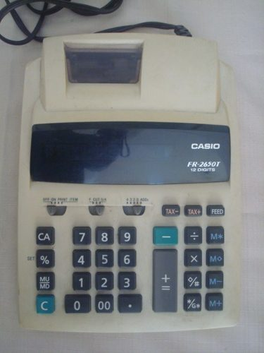 Calculadora Casio Modelo Fr-t De 12 Digitos