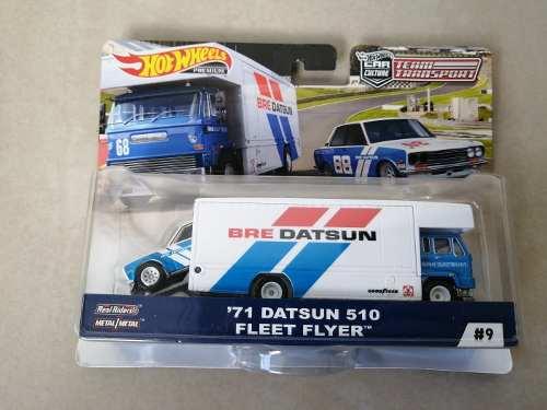 Hot Wheels Real Rider Datsun 510 + Camion Fleet Flyer