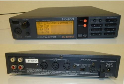 Modulo Sonido Midi: Roland Sc55