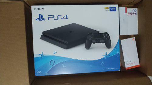Playstation 4 Ps4 1tb Slim + Juego Nuevo Sellado (300v)