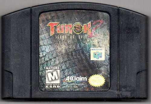 Turok Seeds Of Evil 2 Nintendo 64 Juego Original Usado Qq4