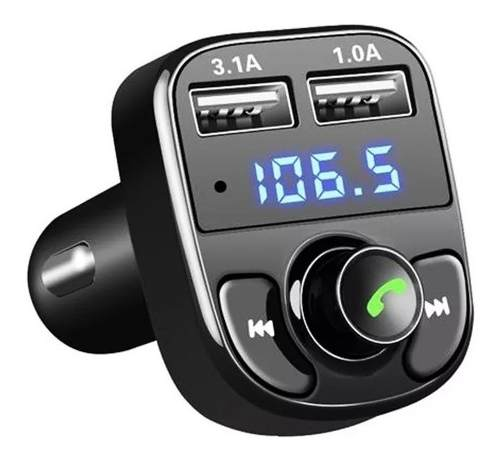 Adaptador Transmisor Reproductor Carro Bluetooth Fm Usb