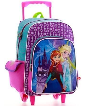Bolso Escolar Con Ruedas Frozen Morral Maleta Princesas