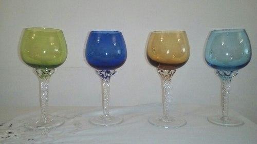 Copas De Cristal De Colores
