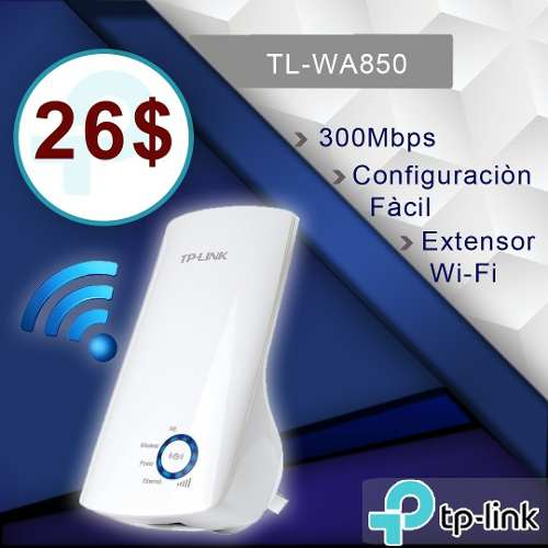Extensor Rango Inalámbrico 850re Tp Link 300 Mbps