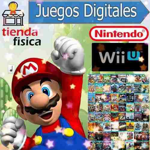 Juegos Digitales Nintendo Wii U Sin Chip