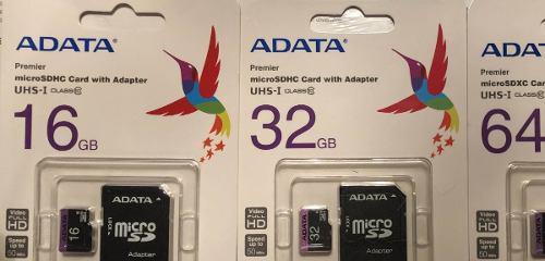 Memoria Micro Sd Adata 16, 32 O 64gb