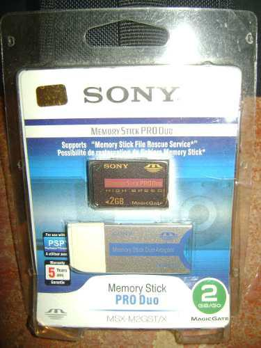 Memory Stick Pro Duo 2 Gb Con Adaptador