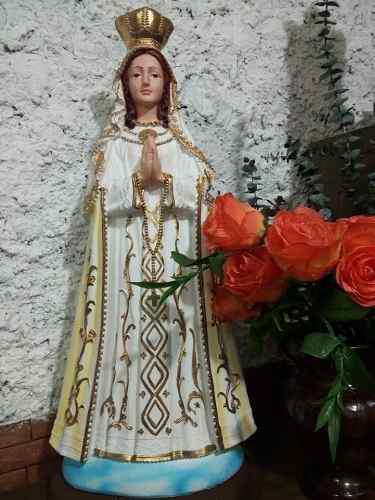 Virgen Del Valle En Yeso 70 Cms De Alto Bella Y Angelical