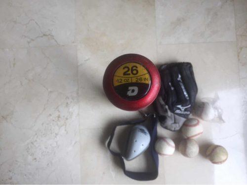 Kit Béisbol Infantil: Guante Mízuno,bate,batera,pelotas...