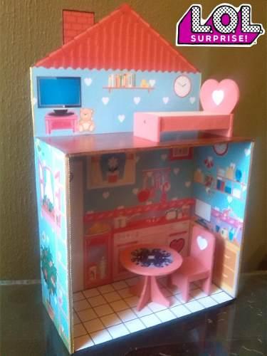 Casa Muñecas Lol Surprise Juguetes Princesas Niñas Barbie
