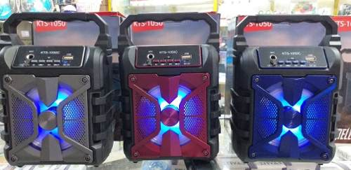 Corneta Bluetooth Recargable Pendrive Memoria Y Radio Fm