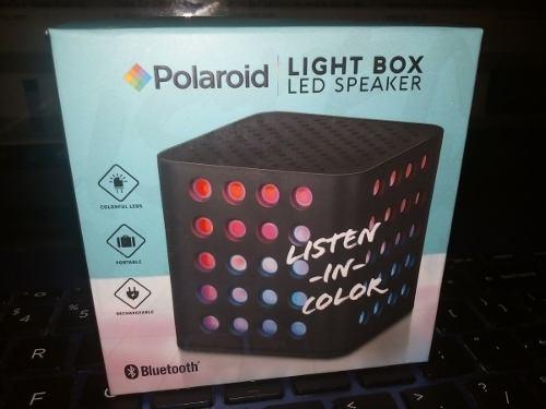 Corneta Inalambrica Bluetooth Lightbox Led Speaker Polaroid