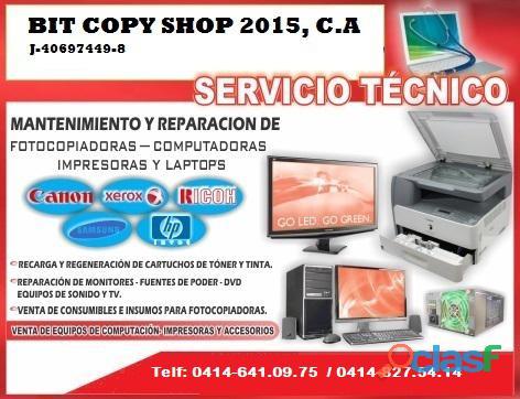 Mantenimiento y reparacion de Impresoras y fotocopiadoras en
