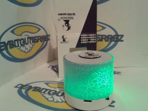 Speaker Portátil Bluetooth, Lector Microsd, Usb Y Radio Fm