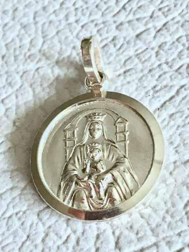 Medalla 16mm Plata Ley 925 Virgen De Coromoto 2,7gr Grabado
