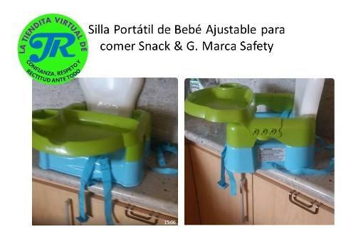 Silla Portátil Para Comer De Bebé Ajustable. Snack & G.