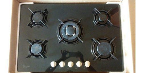 Tope De Cocina 5 Hornillas 77 Cm Siragon De Lujo A Gas 290d