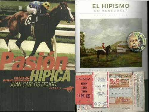 Antiguo Sellado Hipico Y Libro El Hipismo En Venezuela (8d)